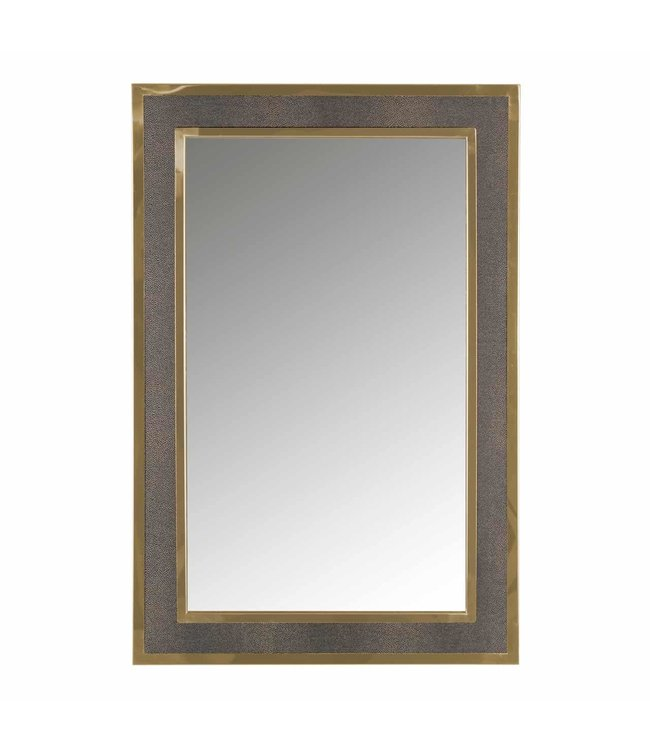 Spiegel Bara met gouden rand (Goud) -MI-0045