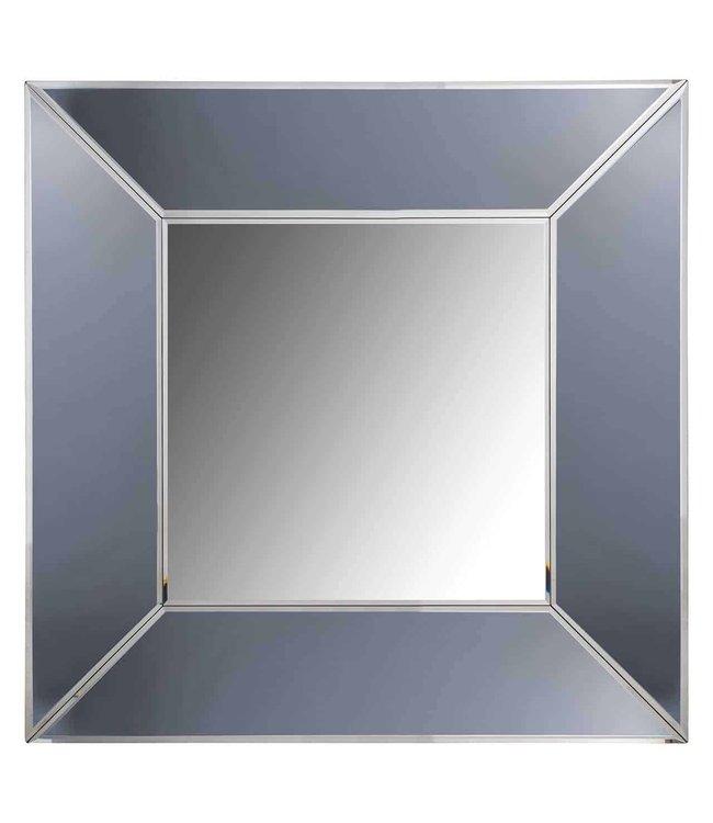 Spiegel Blaed vierkant met smoked spiegelrand -MI-0030