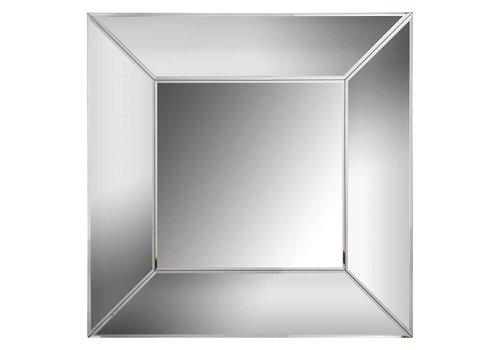 Richmond Interiors Spiegel Benton vierkant met spiegelrand (Zilver) -MI-0029