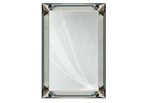 Richmond Interiors Spiegel Lewis zilver (Zilver) -MI-0024