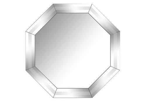 Richmond Interiors Spiegel Blayne 8-hoekig met spiegelrand (Zilver) -MI-0031