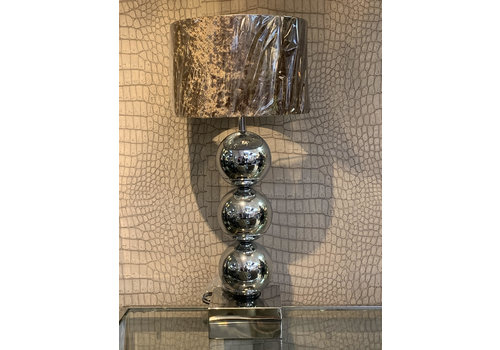 Bollen tafel lamp - Zilver Hollywood style