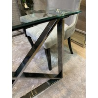 eettafel Moon Silver GLAS - 180cm