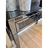Side table smokey grey glitter