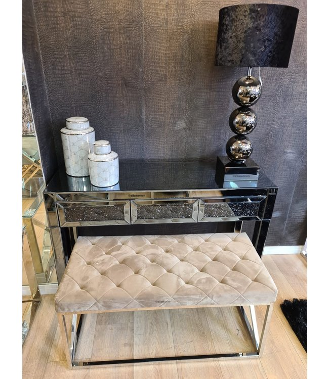 Side table smokey grey glitter