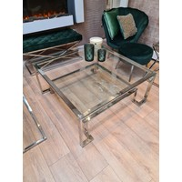 Coffee table Chrome square