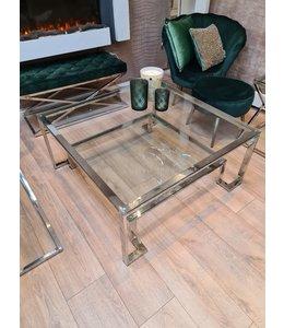 Coffee table Chrome square