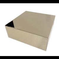 Salontafel Monde Blokvormig Spiegel Sepia 100 x 100 cm