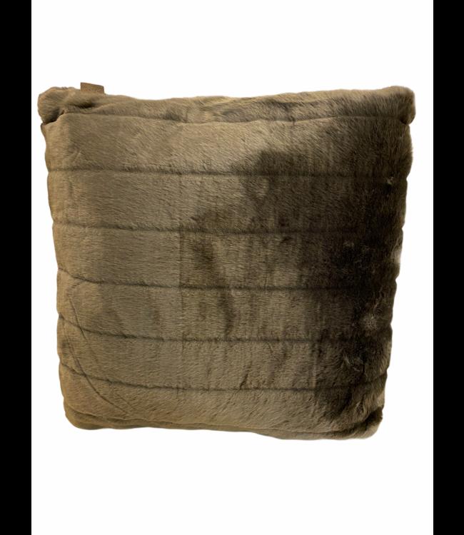 Kussen zachte bont chincilla grey 45x45cm