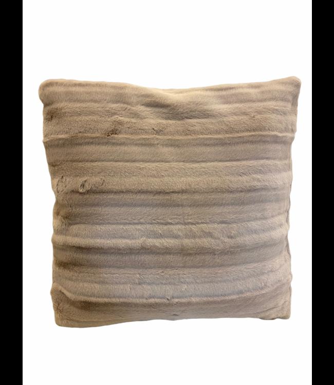 Kussen zachte bont blushpink 45x45cm