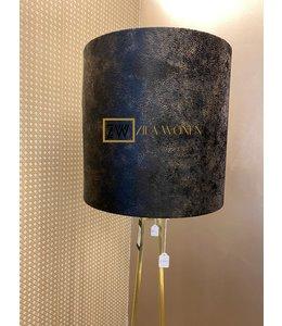Lampenkap XL velvet black/gold