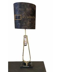 Tafellamp Elana goud ovaal