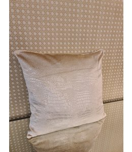 cushion croco beige 40x40