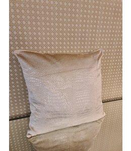 Kussenhoes croco beige/ecru 40x40cm