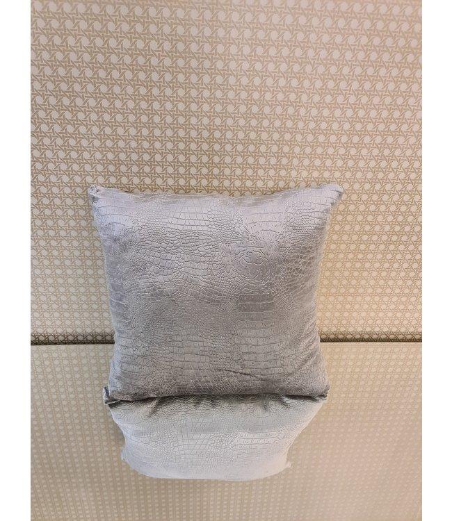 Kussenhoes croco grijs 40x40