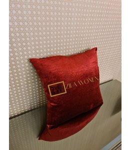 Cushion croco red 40x40cm
