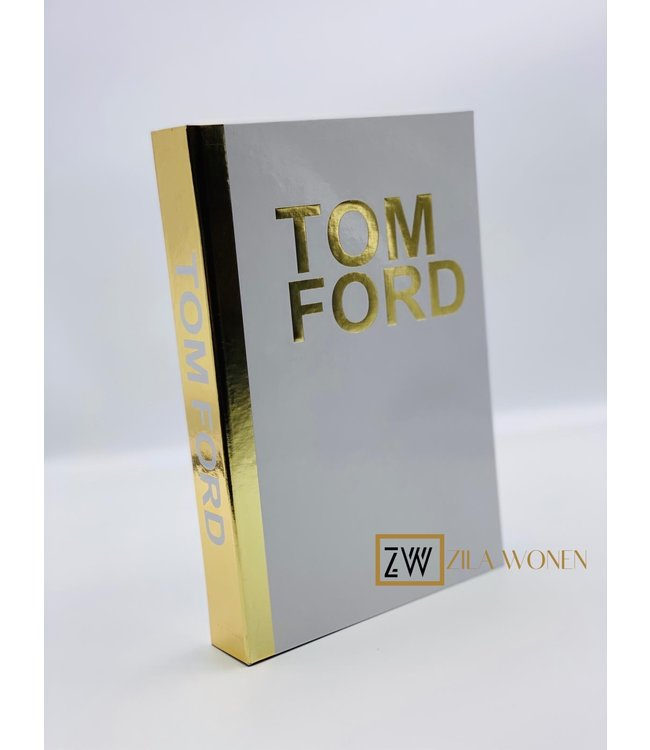 ZilaWonen Fashion book box Tom Ford white