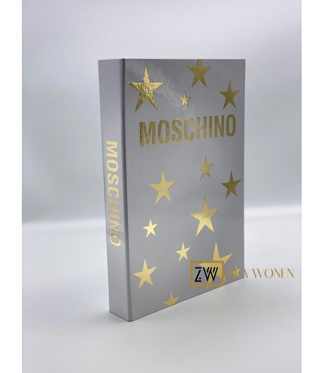 ZilaWonen Fashion book box Moschino white