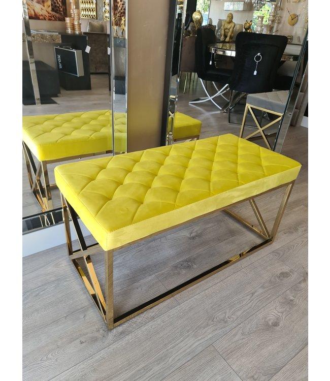 bank elsa lime/yellow goud frame