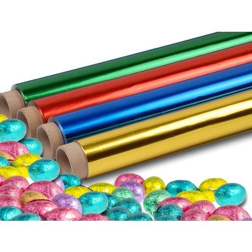 Gekleurd aluminium staniol folie op rol 10my = 0,010mm dik
