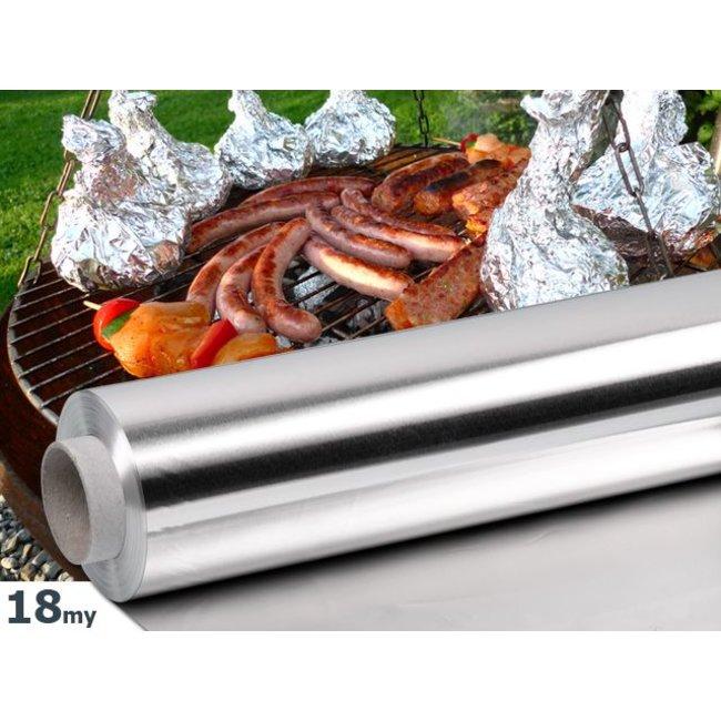 Aluminium BBQ en Grill folie 18my, 45cmx150m