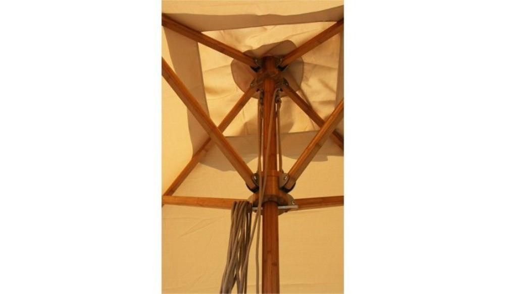 Parasol Levante - 4m rond - Harvest Wheat Spuncrylic