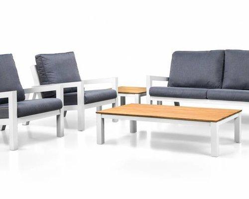 Lago loungeset | Mat royal grijs | Loungebank + 2 stoelen