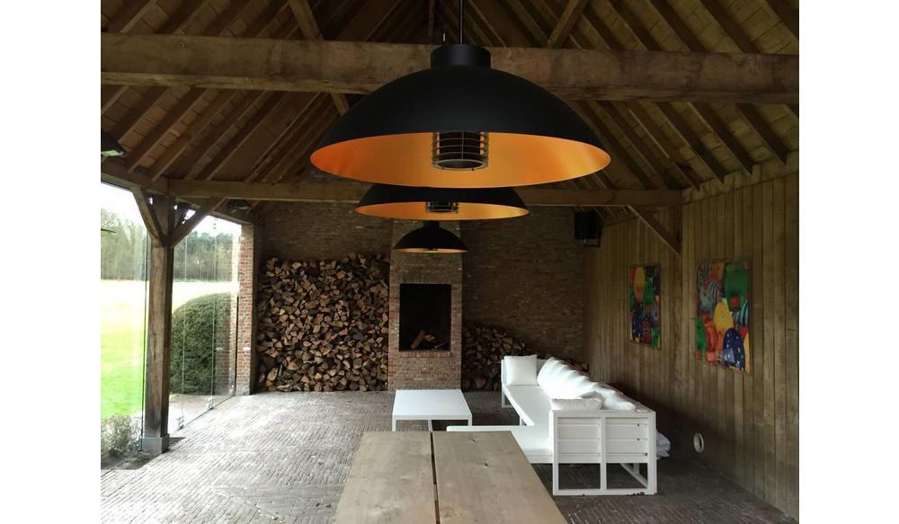 Heater Dome pendel | Mat zwart