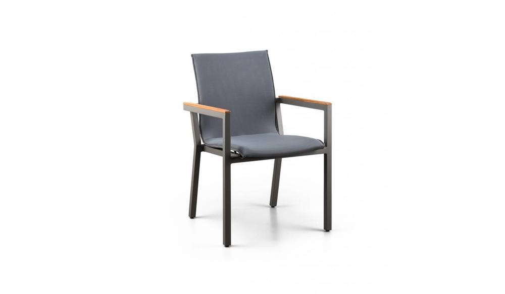 Felice stapelstoel | Mat royal grijs