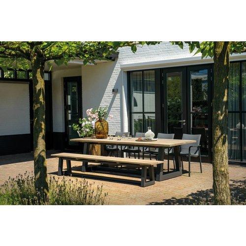 SUNS tuinmeubelen Ovada tuinbank | 340 cm | Mat royal grijs