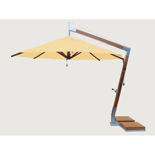 Bambrella parasols Side Wind zweefparasol | Harvest Wheat | 3,4 x 3,4 m
