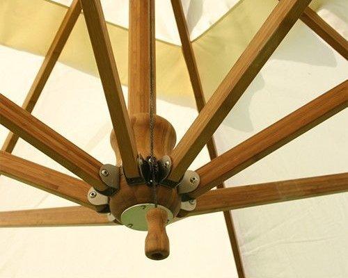 Side Wind zweefparasol | Harvest Wheat | 3,4 x 3,4 m