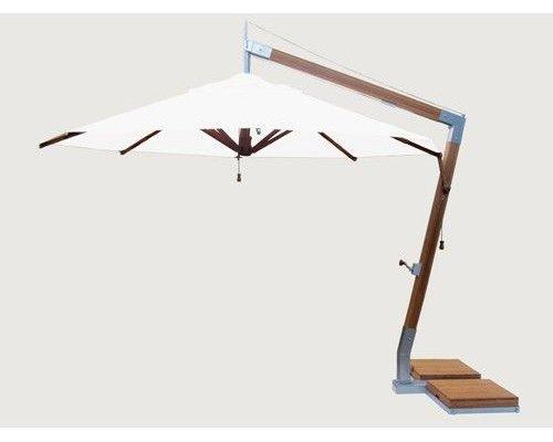 Side Wind zweefparasol | Ice White | 3,4 x 3,4 m