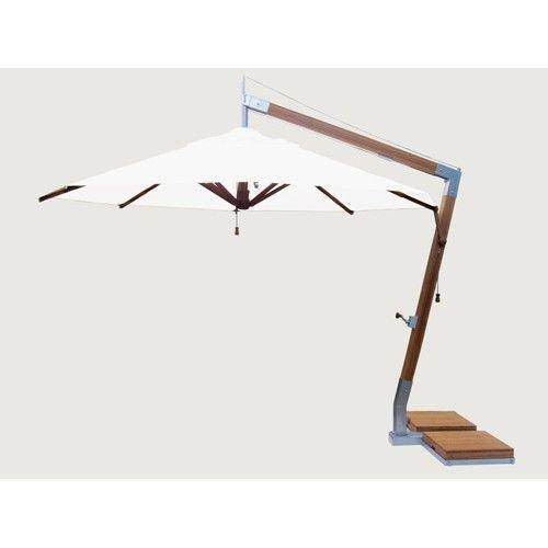 Bambrella parasols Side Wind zweefparasol | Ice White | 3,4 x 3,4 m