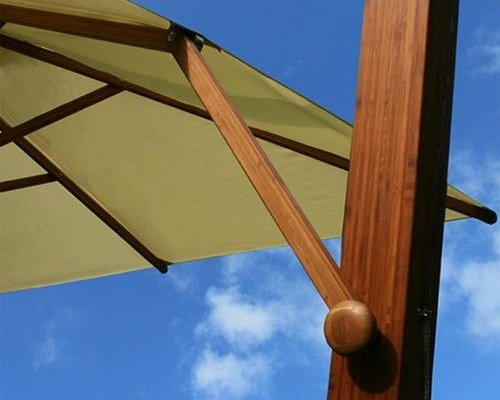Side Wind zweefparasol | Rood | 3,4 x 3,4 m