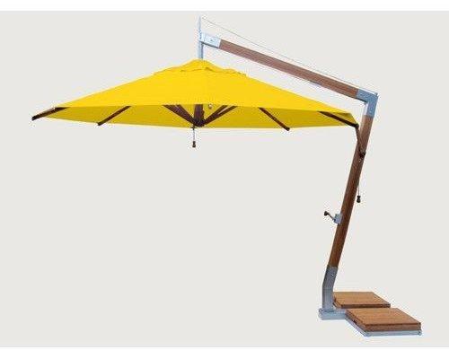 Side Wind zweefparasol | Sunflower yellow | 3,4 x 3,4 m