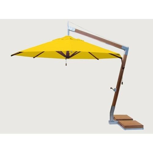 Bambrella parasols Side Wind zweefparasol | Sunflower yellow | 3,4 x 3,4 m