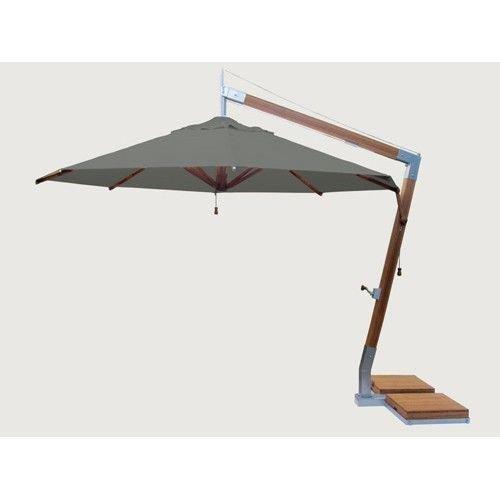 Bambrella parasols Side Wind zweefparasol | Taupe | 3,4 x 3,4 m