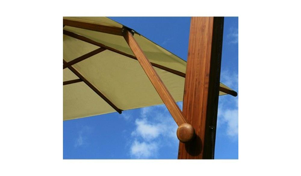Side Wind zweefparasol | Taupe | 3,4 x 3,4 m