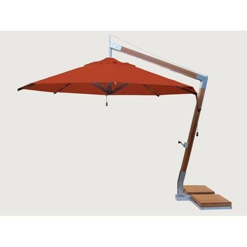 Bambrella parasols Side Wind zweefparasol | Terracotta | 3,4 x 3,4 m