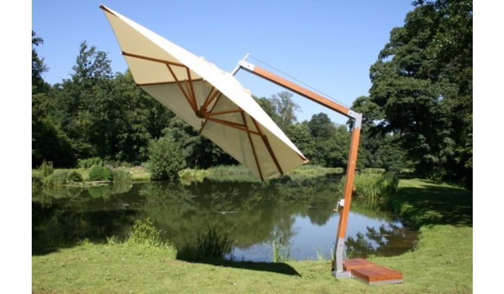 Side Wind zweefparasol | Terracotta | 3,4 x 3,4 m