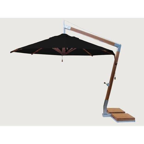 Bambrella parasols Side Wind zweefparasol | Zwart | 3,4 x 3,4 m