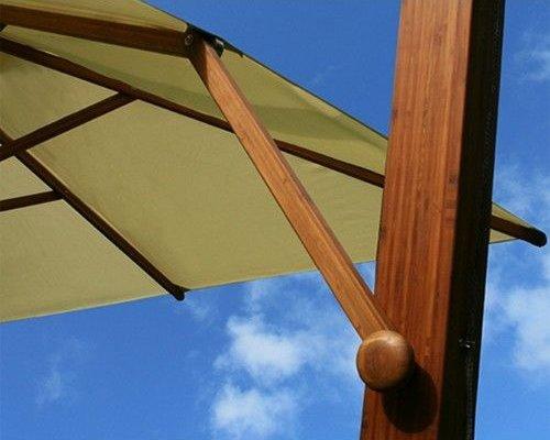 Side Wind zweefparasol | Zwart | 3,4 x 3,4 m