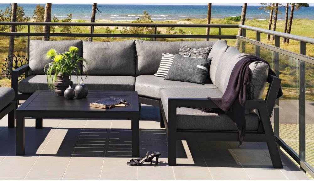 Stettler loungeset | Mat zwart