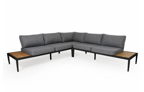 Brafab Whistler loungeset | Mat Zwart | Opstelling 1