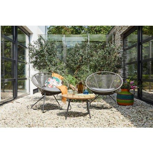 SUNS tuinmeubelen Moni | loungestoel | grijs