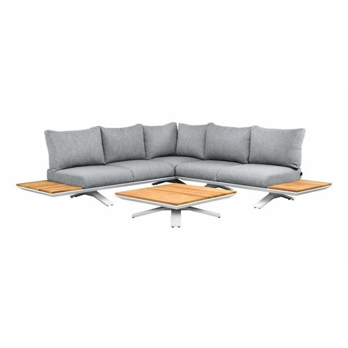 SUNS tuinmeubelen Stockholm loungeset | Mat wit | Opstelling 4
