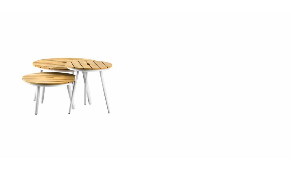 Redondo tafel rond 80x45 | Teak top