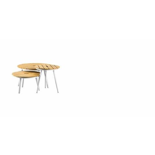 SUNS tuinmeubelen Redondo tafel rond 80x45 | Teak top
