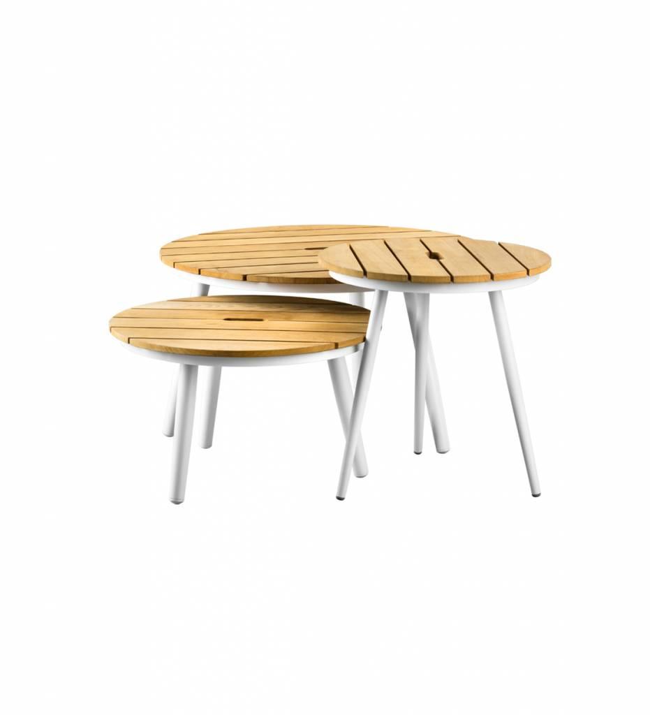 SUNS tuinmeubelen Redondo tafel rond 50x50 | Teak top